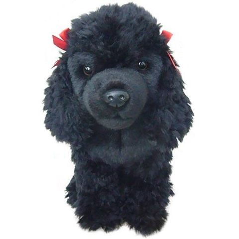Poodle (black) Cuddly toy Approximately 12""